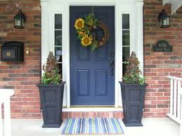 Front Door Entrance Decorating Ideas With Anns Decorative Front Door Wreath