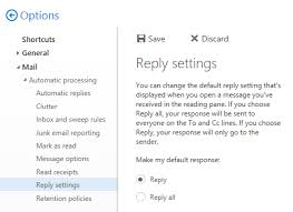 Setting Reply as the default instead of Reply All in Outlook on the ...