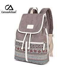 Canvasartisan Top Quality Canvas <b>Women Backpack Casual</b> ...