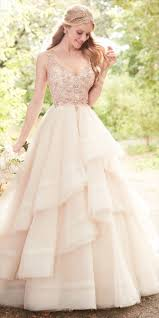 Wedding Dress With Rose Gold Accents