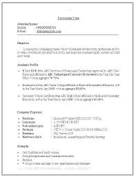Microsoft Word Resume Format Magnificent Resume Latest Format Equios