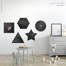 geometric shapes chalkboard wall decal