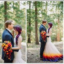 nice ombre wedding dress this bride dyed her wedding dress to