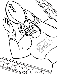 Small Picture Football Coloring Page Handipoints