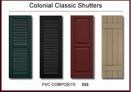 exterior decorative shutters. classic architectural™ premium lifetime pvc composite shutters · colonial classic™ exterior decorative