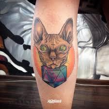 фото татуировки сфинкс в стиле нео традишнл нью скул татуировки на
