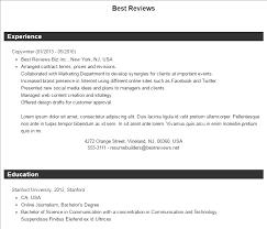 ResumeBuilder.org Sample Resume
