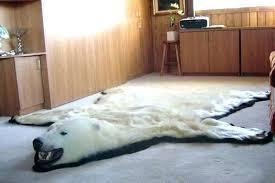 fake bear skin rug polar bear skin rug faux bear skin rug canada