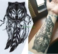 водонепроницаемая временная татуировка наклейка большого размера