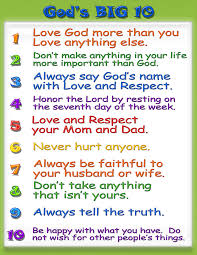10 Commandments Chart Kid Friendly Ten Commandments Ten Commandments Craft