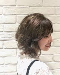 丸顔女性に似合う髪型前髪33選ショートボブミディアムロング Belcy