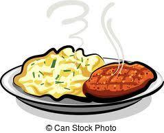 mashed potato clipart. Simple Potato Cutlet With Potato  Mashed On Mashed Potato Clipart E