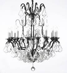 a83 3003 16sw gallery84 swarovski crystal trimmed wrought iron chandelier trimmed with swarovski crystal