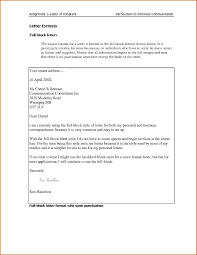 Block Letter Sample Personal Formal Letter Sample Business Format Best Examples