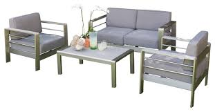 Denise Austin Home Sonora Outdoor Aluminum Loveseat with Cushions