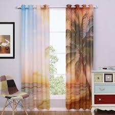 Printed Curtains Living Room Aliexpresscom Buy Window Curtain Living Room Blue Sheer