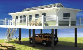 best narrow lot beach house plans on pilings