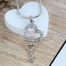 home jewellery neckpiece key to my heart pendant chain image