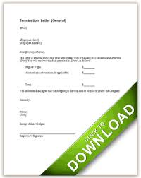 termination letter general how to write a termination letter to an employer