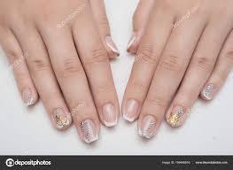 Light Pink Nails With Rhinestones Light Pink Nails With Rhinestones Manicure With