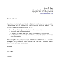 Resume Cover Letter Examples For Customer Service 25 Resume For