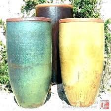large ceramic r pots tall stupendous garden pot planters rustic square yellow plant pottery gold line