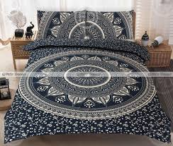 king size black gold boho bedding hippie bed sheet with matching pillowcases