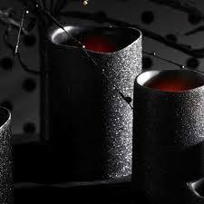 k k interiors black glitter led candle