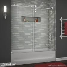 dreamline enigma z 56 to 59 frameless sliding tub door clear 3