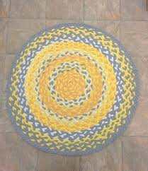 grey braided rug yellow and grey kitchen rug recycled up cycled hand braided and recycled braided grey braided rug