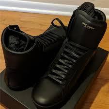 545 mens saint lau classic leather high top sneakers black 49 us 16