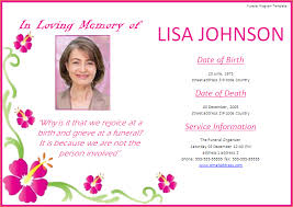 Memorial Service Invitation Wording Beauteous Memorial Service Funeral Invitation Card Perfect Ideas Wording