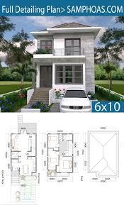 3 Bedrooms Small Home Design Plan 6x10m - SamPhoas Plansearch | Small house  design plans, Sims house plans, Modern house plans