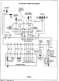 1987 ford bronco auto trans 4 wheel drive engaging transfer case check both the motor position sensors and the wiring harness at b4 b5 b6 and b7 and the input from b8 see figure 21 make sure the harness is ok first