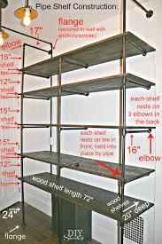 diy pipe shelf construction