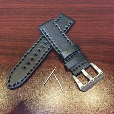 invicta compatible black thick genuine leather replacement watch band strap steel metal buckle 1061 loading zoom