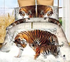 com 3d snow winter tiger bedding set polyester comforter sets prints duvet cover set queen size 4pcs 1pc bed sheet 1pc comforter cover 2 pcs pillow