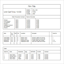 program sheet template call sheet template 11 download free documents in word pdf selimtd