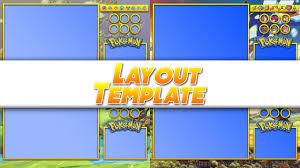 Free Templates Pokemon Layout Template Youtube