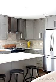 White Kitchen Cabinets With Black Countertops Classy Black Appliances And White Or Gray Cabinets How To Make It Work