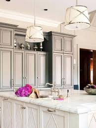 image of terrific pendant lights for kitchen island and white calacatta marble kitchen island countertop with antique white pendant lighting