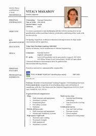 Sample Resume Format Resume Format For Ojt Elegant Sample Resume For Ojt Deck Cadet 48