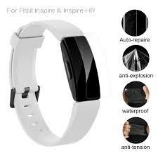 For Fitbit Inspire HR Screen Protector Anti scratch <b>Soft TPU</b> HD Ultra ...