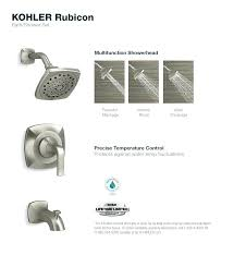 faucet kohler shower inserts bath and kit
