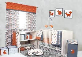 orange crib per home nursery decor and accessories crib bedding sets playful fox orange grey crib set orange crib per pads