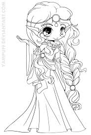 Scottish Elf Princess Lineart By Yampuff