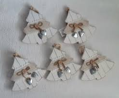 5 Deko Hänger Holz Tannenbaum Weihnachten Fensterdeko Basteln