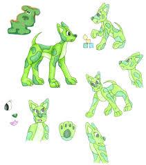 Blue Magenta and Green Puppy by DogWolf129 on DeviantArt