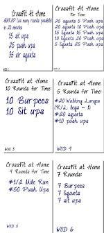 crossfit at home workouts crossfit wod