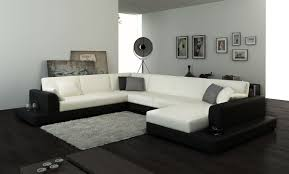 modern white fabric sectional sofa